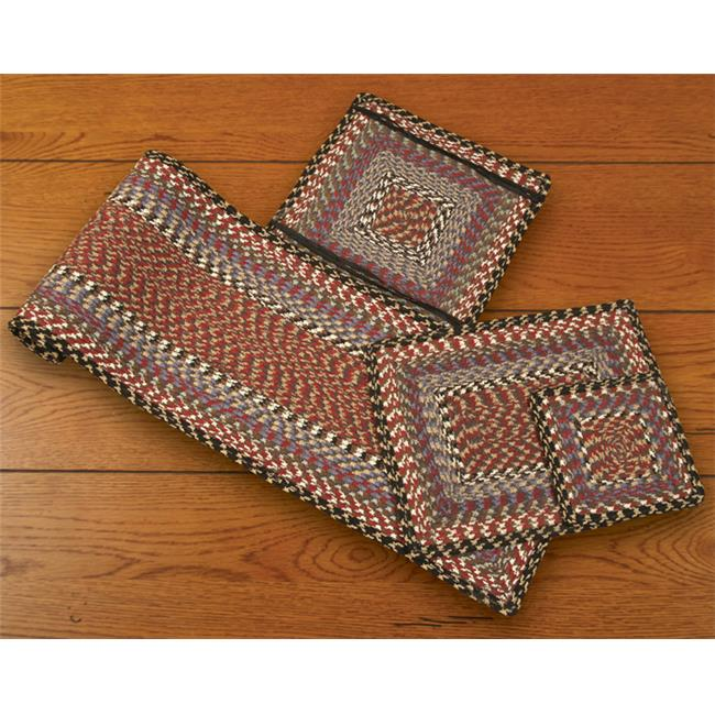 Earth Rugs 50-043 Burgundy-Blue-Gray Rectangle Placemat
