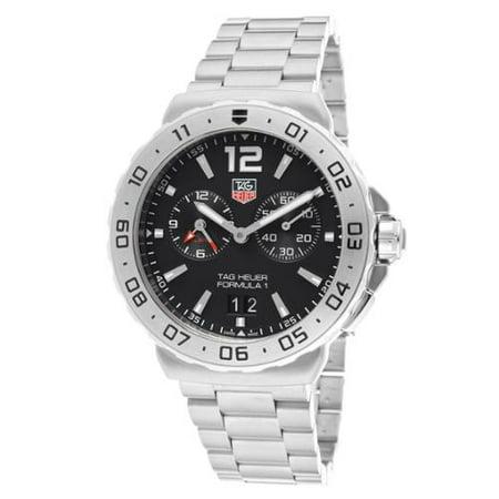 TAG Heuer Men's WAU111A. BA0858 Formula 1 Black Dial Grande Date Alarm Watch