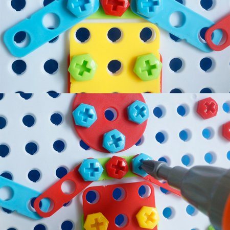 Children's Brain Development Building Block Games Set With Toy Drill&Toolset - image 3 of 6