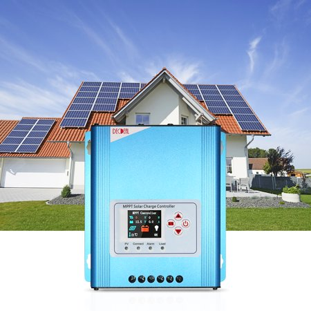 Decdeal 30A MPPT Solar Charge Controller 12V/24V/48V Battery Charging Regulator with LCD Display Overload Protection Data Record - image 6 de 7