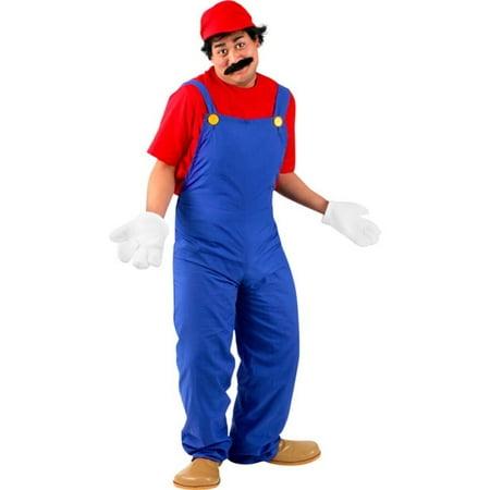 Adult Super Mario Costume~Large / Red