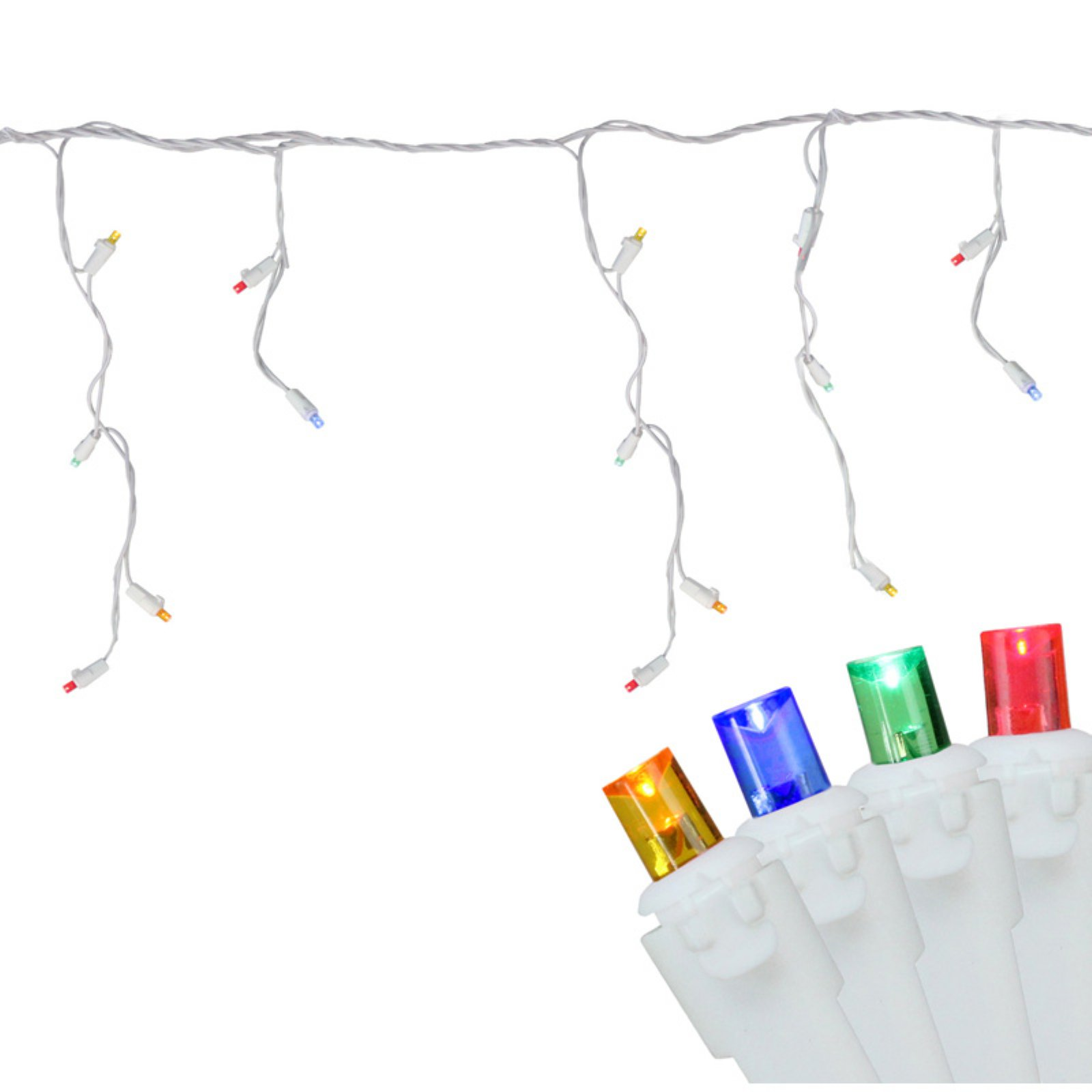 Northlight 100 ct. LED Icicle Lights with White Wire 3 in. Spacing