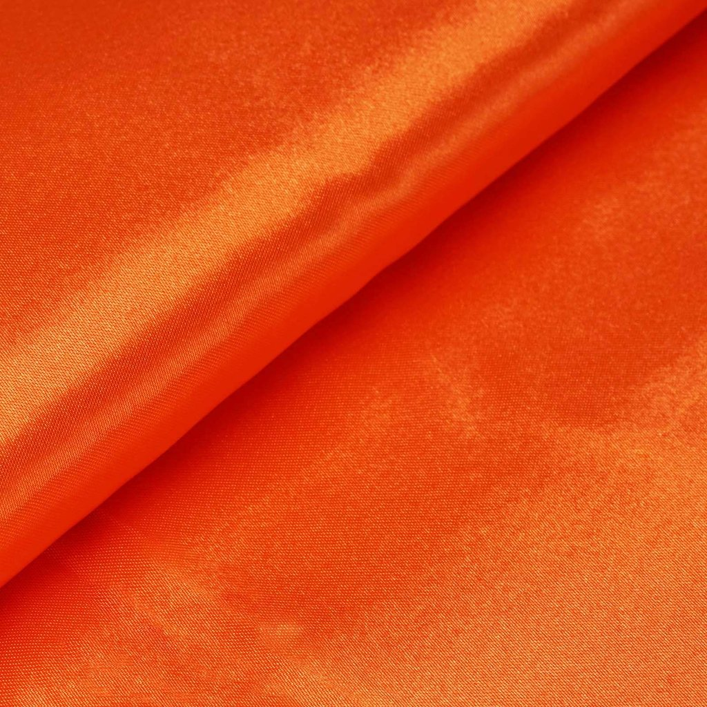 "54"" Wide x 10 yards Satin Fabric Bridal Bolt - Orange"