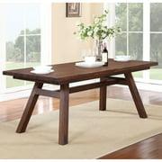 Modus Portland Solid Wood Rectangular Extension Table - Medium Walnut