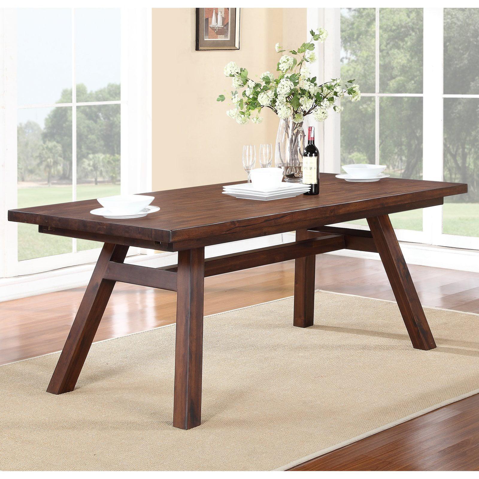 Modus Portland Solid Wood Rectangular Extension Table Medium Walnut by Modus Furniture International