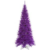 """5.5'x30"""" Purple Slim Fir Tree 722 Tips"""
