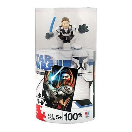 Star Wars 100 Piece Puzzle with Obi Wan Figure, By Hasbro Ship from US](Us Puzzle)