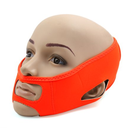 - Orange Neoprene Two Wearing Method Facial Shaper Cheek Lift Up Mask Shaping Band