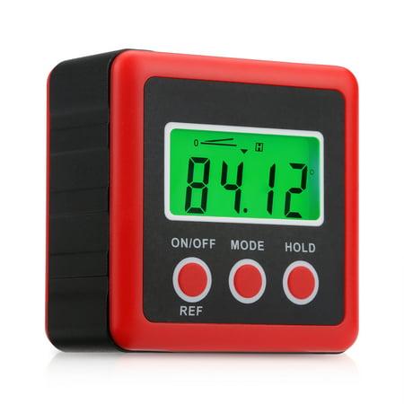 Backlight Digital Level Box Protractor Angle Finder Level Gauge Bevel Gage Inclinometer Magnetic Base (82412 Angle - Angle Level