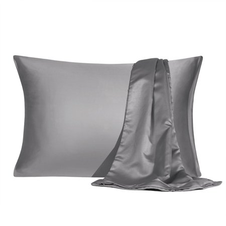 Silky Soft 2 Pack Satin Pillowcase With Zipper Travel Size
