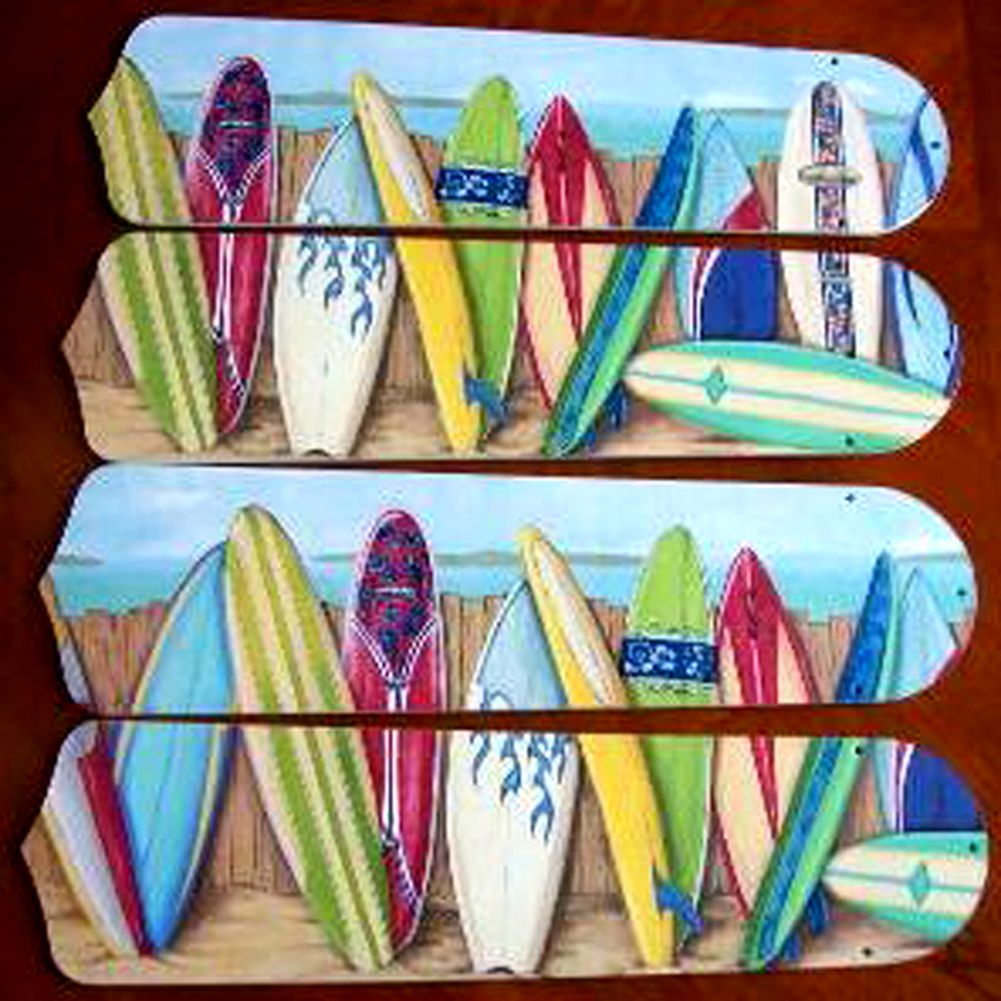 Hawaiian Surfboards Custom Designer 42in Ceiling Fan Blades Set