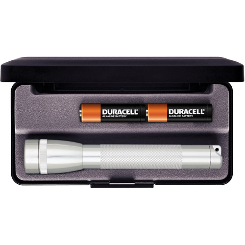 Mini MagLite AA Flashlight with Presentation Box, Silver
