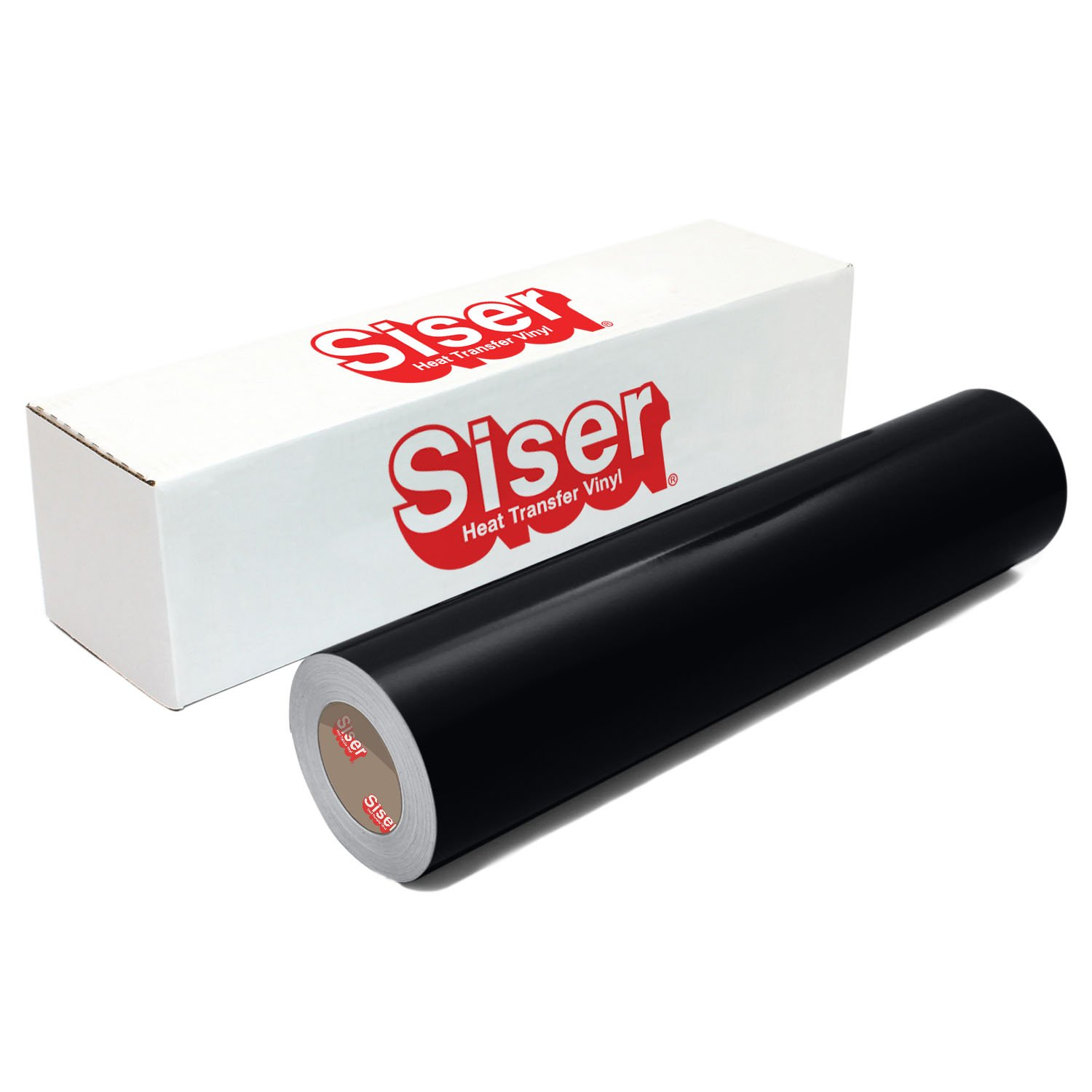 "Siser EasyWeed Heat Transfer Vinyl, 12"" x 10' Roll - Black"