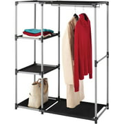 Whitmor Resin Garment Rack and Shelves, Black/Gray