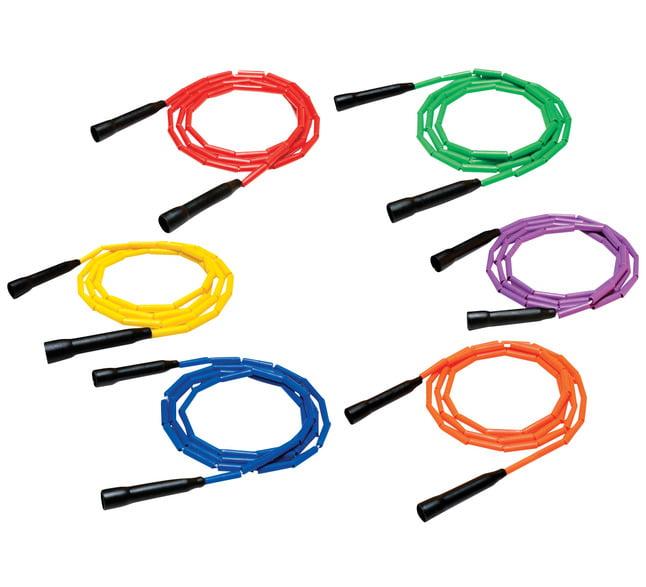 Sportime Gradestuff Link Jump Rope, Multiple Lengths, Solid Colors, Pack of 6