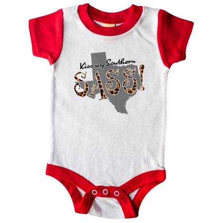 Texas Kiss my Southern Sass! in Leopard Print Infant Creeper
