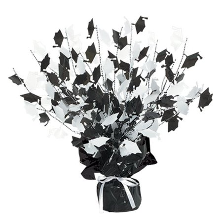 The Party Aisle Graduation Cap Gleam 'N Burst Centerpiece (Blue And Gold Centerpiece Ideas)