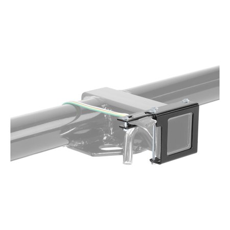 Curt Hitch 58001 Trailer Wiring Connector Mounting Bracket  Allows 4-Way or 5-Way Flat Connector To Be Mounted By The Hitch Receiver; Fits 2 Inch x 2 Inch Receiver Tube; Black Power Coated; Steel - image 1 de 2