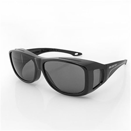 - Gloss Black Condor 2 Large OTG Sunglass, Anti-fog Smoked