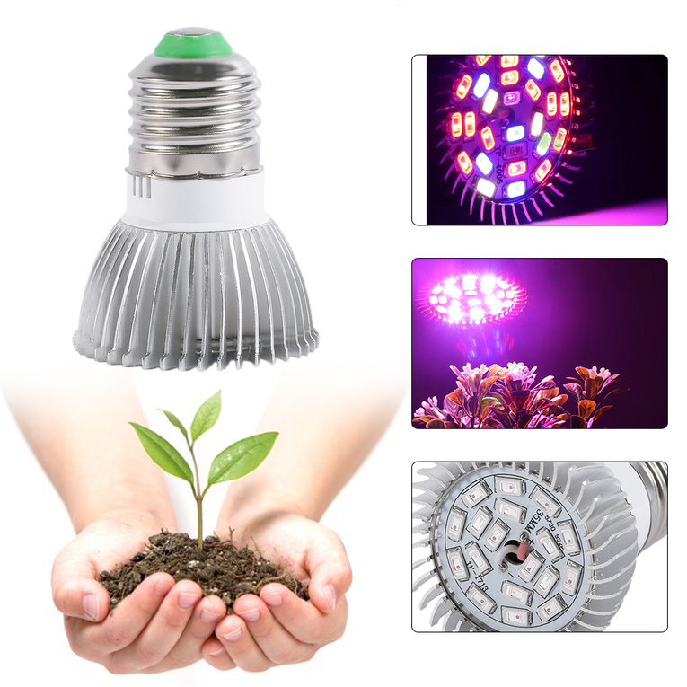 Professional 18W Full Spectrum E27 LED Grow Light Growing Lamp Light Bulb Suitable For Flower Plant