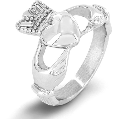 Stainless Steel Traditional Celtic Claddagh Ring
