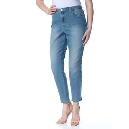 MAISON JULES Womens Light Blue Zippered Pocketed High Rise Skinny Jeans  Size: 14 Low Rise Zipper Pockets