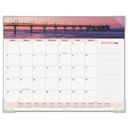 Ataglance 89803 Recycled Seascape Panoramic Desk Pad, 22 x 17, 2016