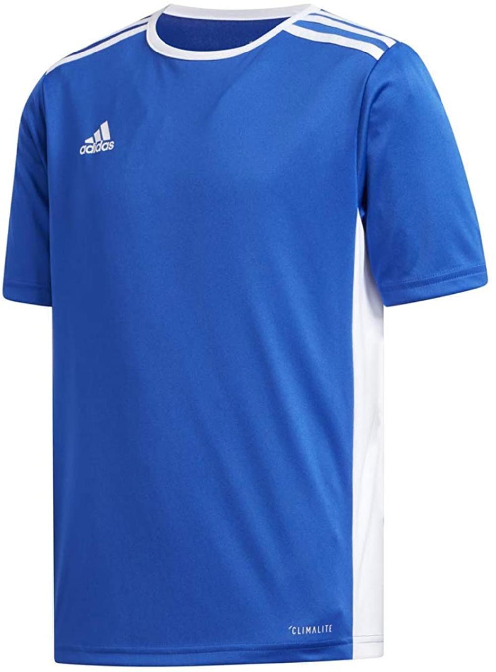adidas Boys' Entrada Jersey, Bold Blue/White, X-Large, 100 ...