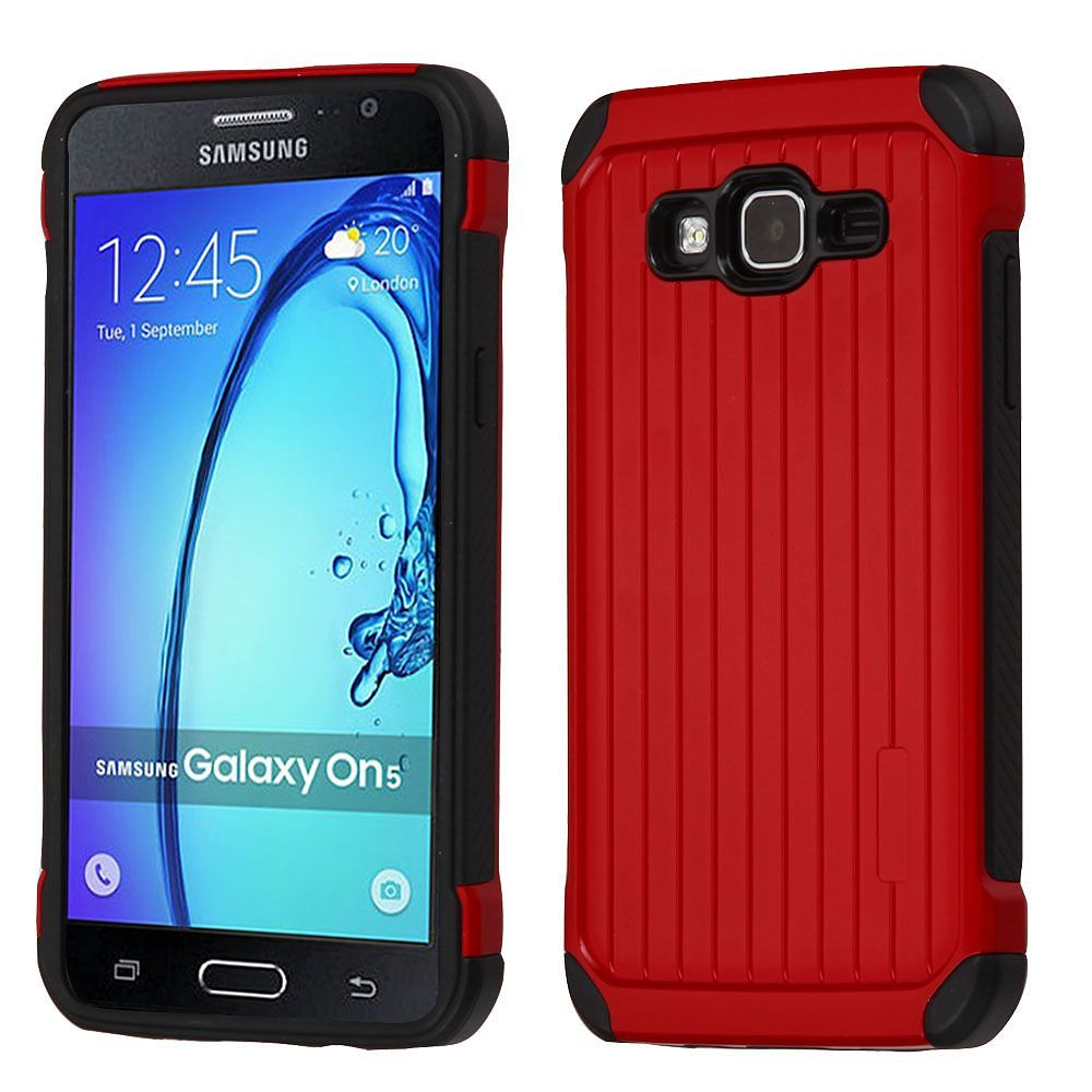 Samsung Galaxy On5 Phone Case By Insten Hard Hybrid TPU Cover For