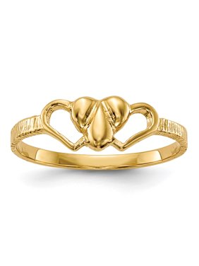 14k Yellow Gold Children's Heart Ring