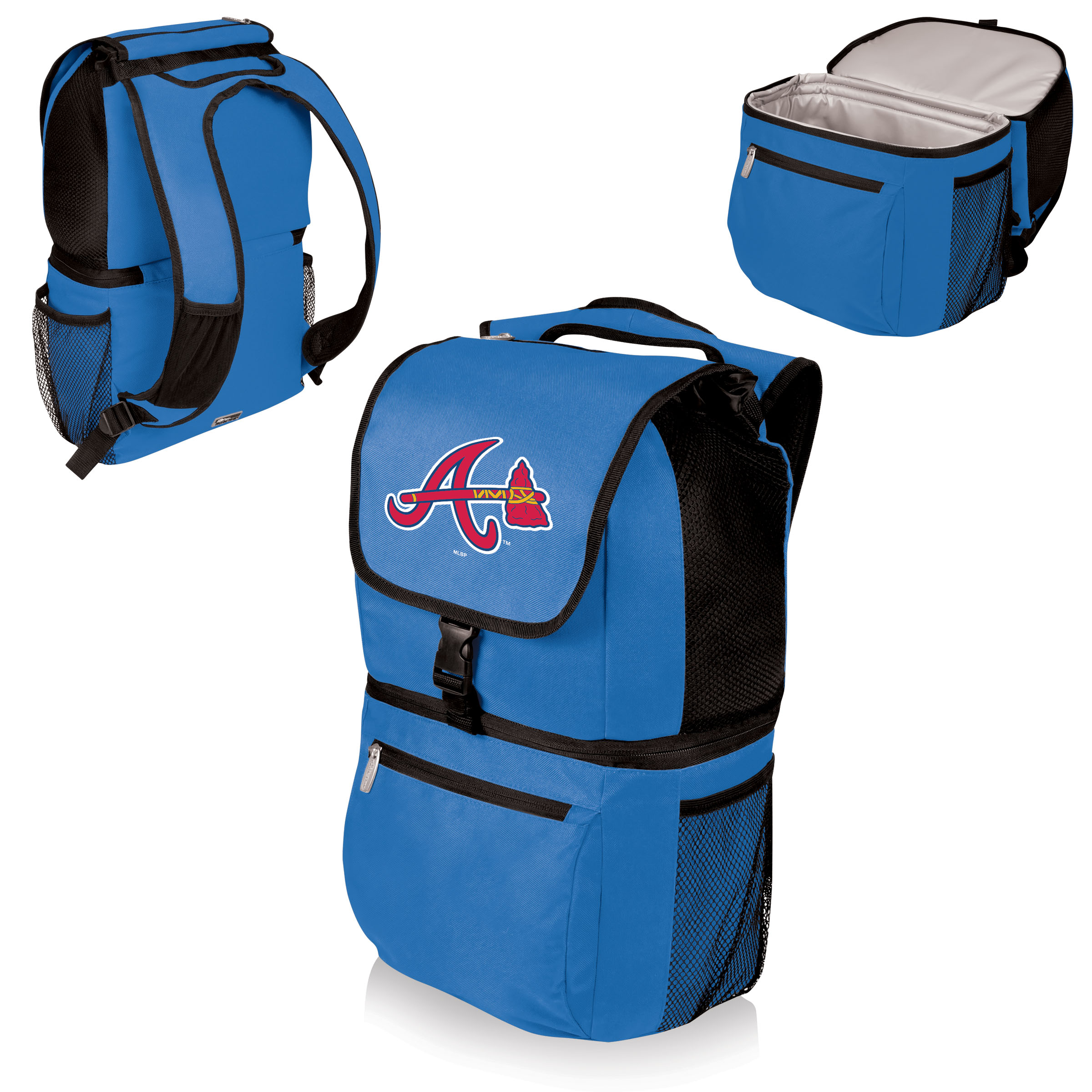 Atlanta Braves Zuma Cooler Backpack - Blue - No Size