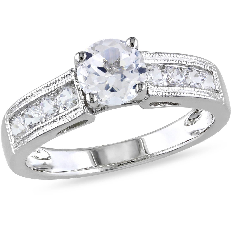 Miabella 1 1 2 Carat T G W Created White Sapphire Sterling Silver