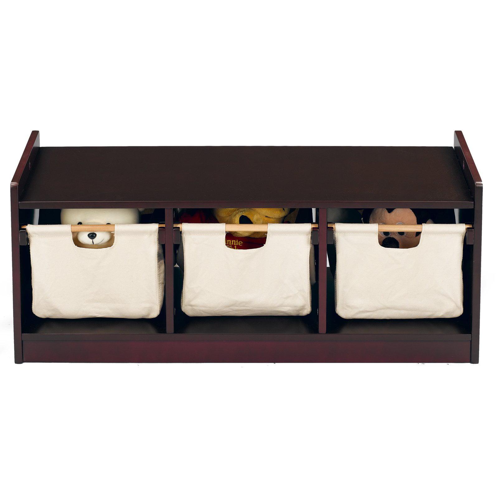 WonkaWoo Deluxe Children's Storage Bench, Espresso