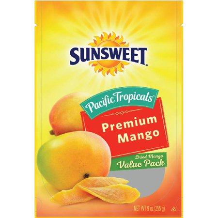 Sunsweet Pacific Tropicals Philippine Dried Mango Value Pack, 9