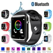 A1 Smart Wrist Watch Bluetooth Waterproof GSM Phone For Android Samsung iPhone Fashion/Smart watch-Black