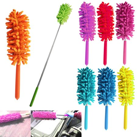 1 x Telescopic Microfiber Duster Extendable Cleaning Dust Home Office Car - Car Duct