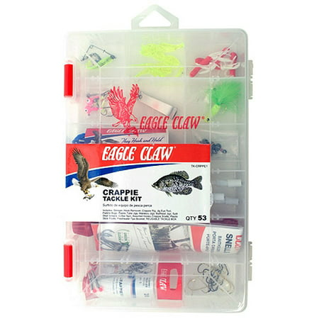 Eagle claw crappie tackle kit with utility box for Fishing kit walmart