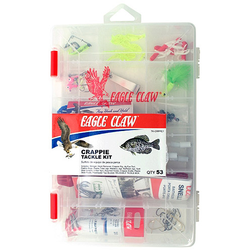 Eagle Claw Crappie Tackle Kit with Utility Box