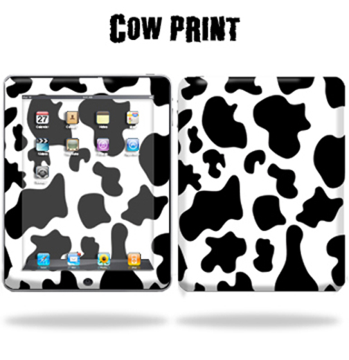 Mightyskins Protective Vinyl Skin Decal Cover for Apple iPad tablet e-reader 3G or Wi-Fi wrap sticker skins - Cow Print