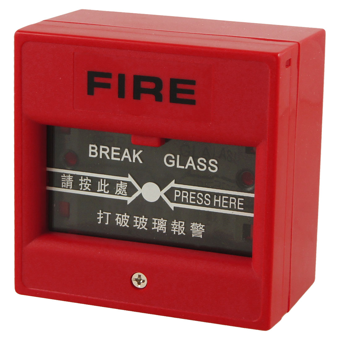 Red Square Shaped Conflagration Alarm Glass Button Emergency Door Release
