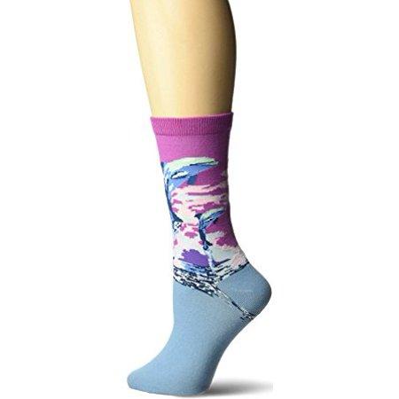 Women's Crew Socks - K Bell - Dolphins Purple - image 1 of 1