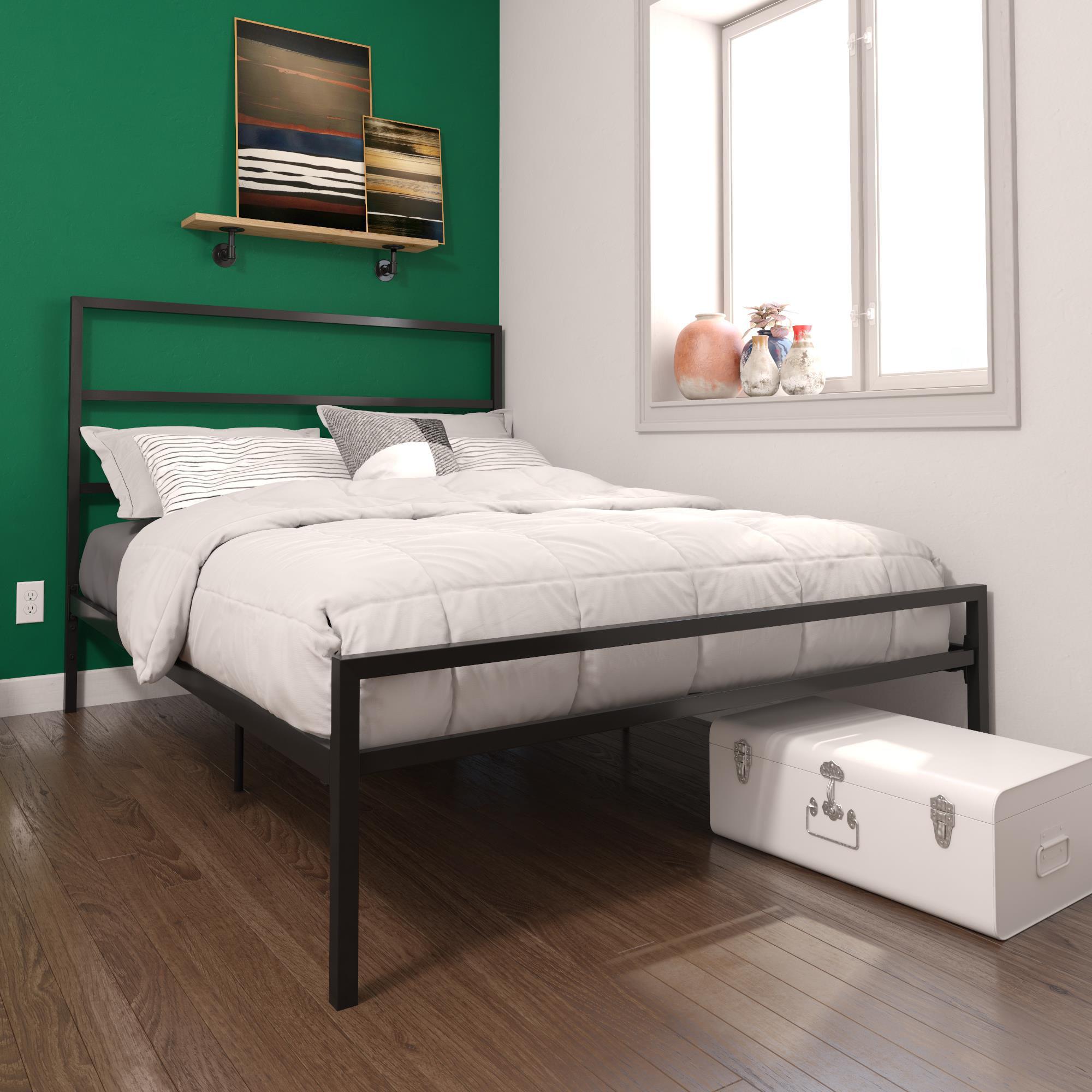 DHP Miles Metal Bed, Full Size Frame, Adjustable Under ...