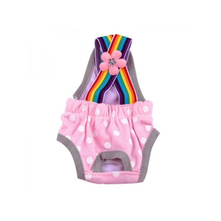 Lavaport 4 Colors Cute Pet Dog Physiological Panty Female Puppy Cotton Suspender Sanitary Diaper