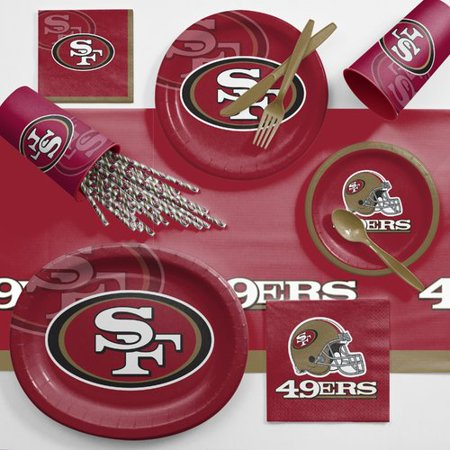 San Francisco 49ers Ultimate Fan Party Supplies Kit](W San Francisco Halloween Party)