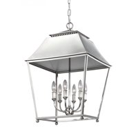 Feiss Lighting F3090/6PN Galloway Foyer Pendant Light, Polished Nickel