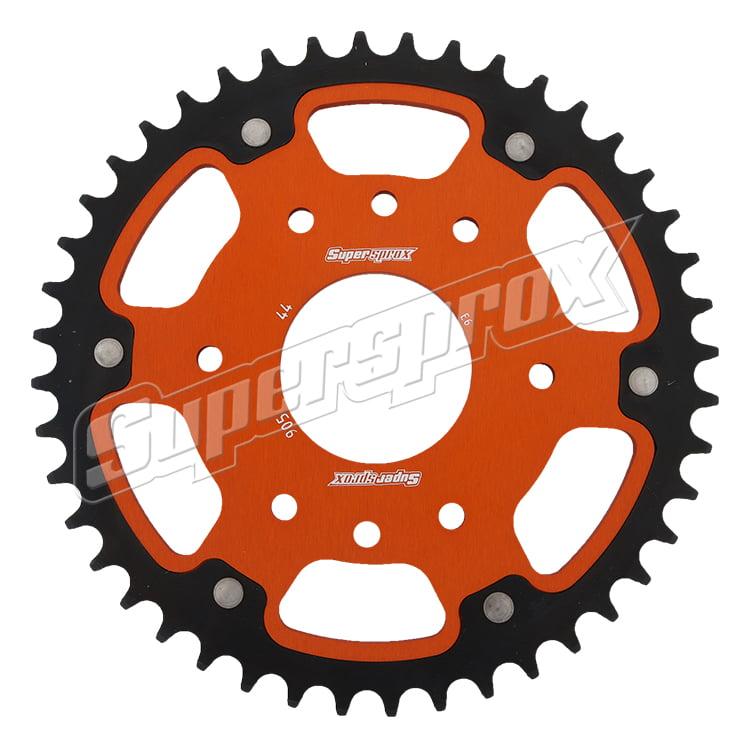 New Supersprox - Orange Stealth Sprocket, 44T, Chain Size 520, Rst-905-44-Org