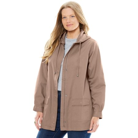 Plus Size Lightweight Hooded Jacket