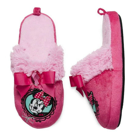 Disney Toddler Girls Pink Slide On Minnie Mouse Slippers House Shoes ...