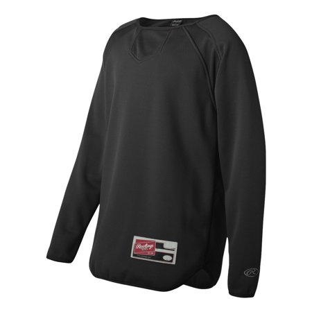 Rawlings - Youth Active Sports Long Sleeve Flatback Mesh Fleece Pullover