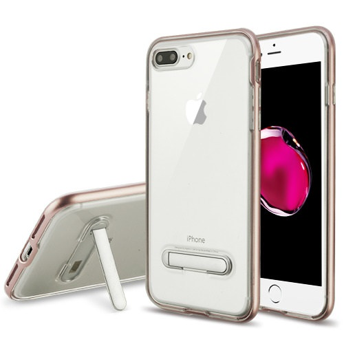MUNDAZE Rose Gold Candy Acrylic Magnetic Stand Case For Apple iPhone 8 PLUS